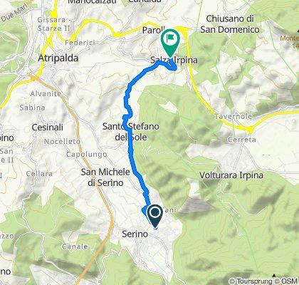 Da Via Cupa Scura 11, Serino a Via San Francesco 29, Salza Irpina