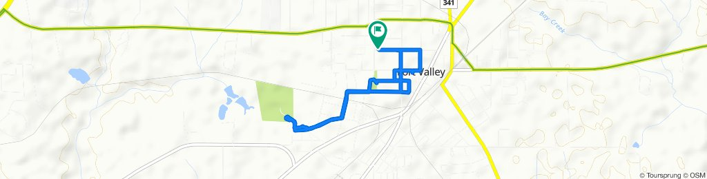 Relaxed route in Fort Valley