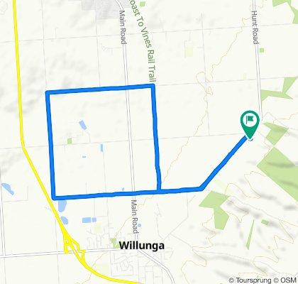Undulating trail run: Gaff, Little, Pethick, Rifle Range, Bike Tri, Gaff, Home.