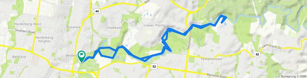 River Gum Walk, Heidelberg to Main Yarra Trail, Heidelberg