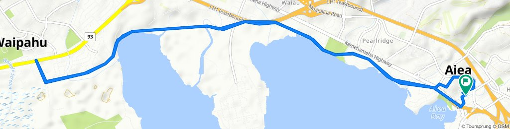 Relaxed route in ʻAiea