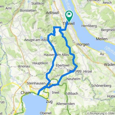 Thalwil - Albis - Sihlbrugg - Thalwil