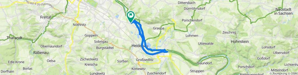 Knackige Fahrt in Dresden