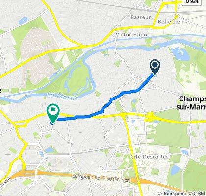Itinéraire confortable en Noisy-le-Grand