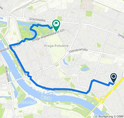 Umiarkowana trasa w Warszawa