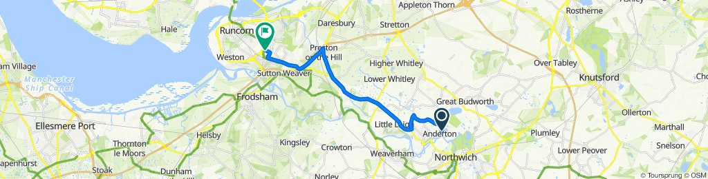 Lift Lane, Northwich to 2 Tawny Court, Runcorn