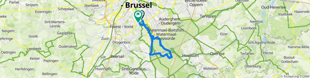 Moderate route in Ixelles
