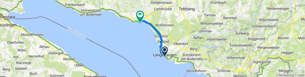 Gemütliche Route in Friedrichshafen