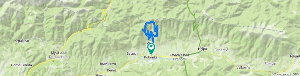 Restful route in Polomka