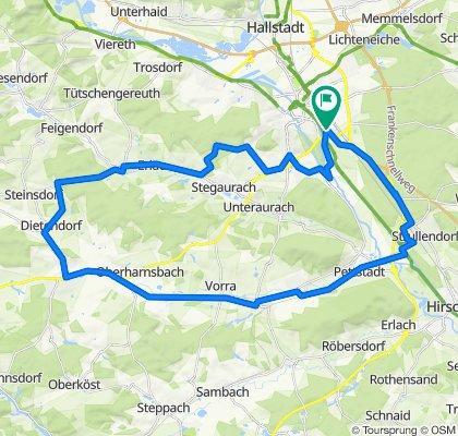 Steigerwaldrunde ab Bamberg kurz