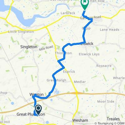 Restful route in Preston