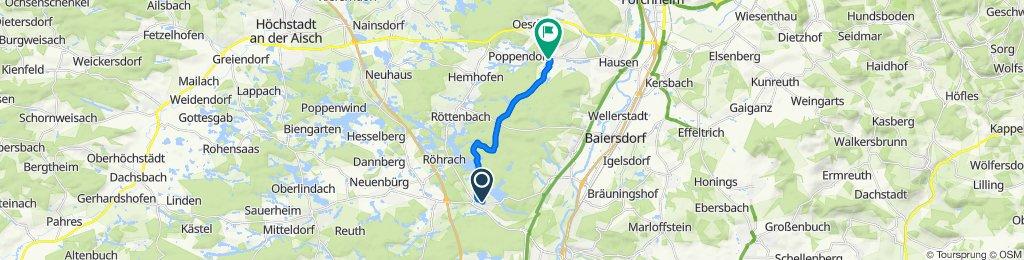 Egerstraße 22, Erlangen nach Reuendorfer Weg 8, Heroldsbach