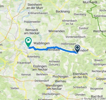 Ruta constante en Stuttgart