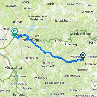 Sportliche Route in Sankt Augustin