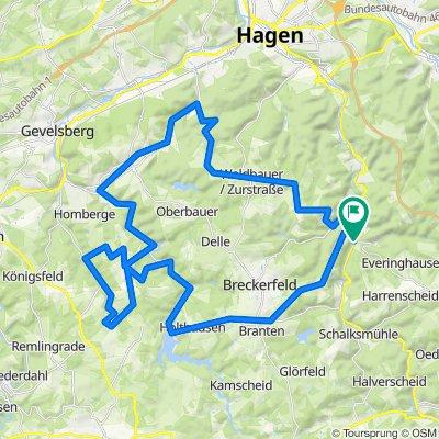 Rundkurs vom Volmetal über Wengeberg, Ennepetal, Rüggeberg, Hasperbach und Zurstraße
