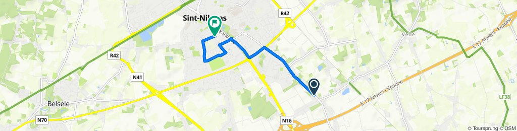 Supersnelle route in Sint-Niklaas