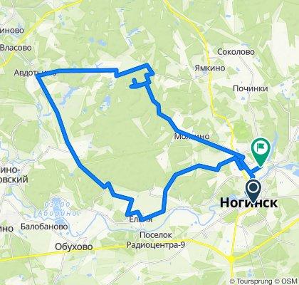 От Советская улица 39г, Ногинск до Индустриальная улица 40б, Ногинск