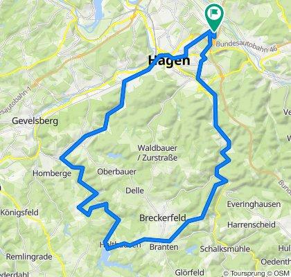 Rundkurs vom Hagen über Rüggeberg und Hasperbach