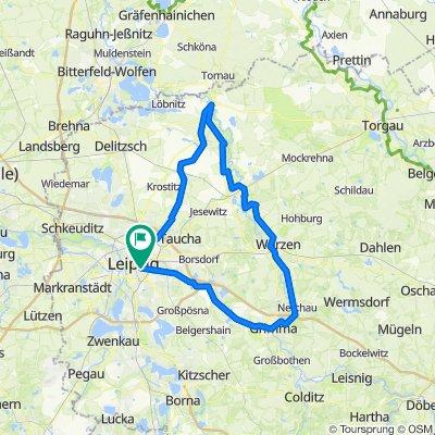120 km Leipzig-Bad Düben-Mulderadweg-Leipzig
