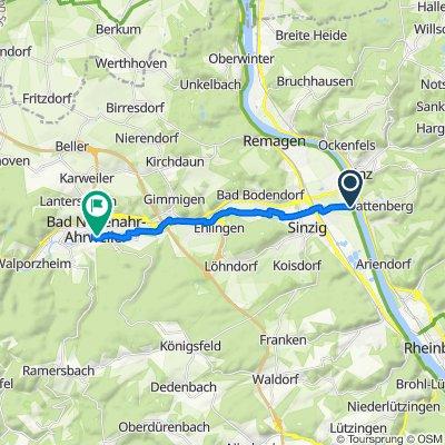 Unnamed Road, Sinzig nach Wilhelmstraße 12, Bad Neuenahr-Ahrweiler