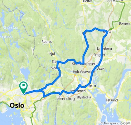 Sandaker-Gjerdrumrunden 75 km