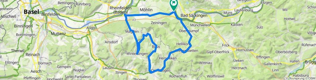 Rheinstrasse 48, Wallbach to Brütschengasse 11, Wallbach