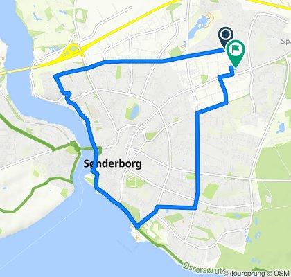 Slow ride in Sønderborg