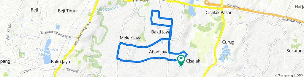 Home-Pamoras RRI-Mekar Perdana-Jl. Bahagia- Mahakam-Depok 2- Samsat-Jalur 50-Home