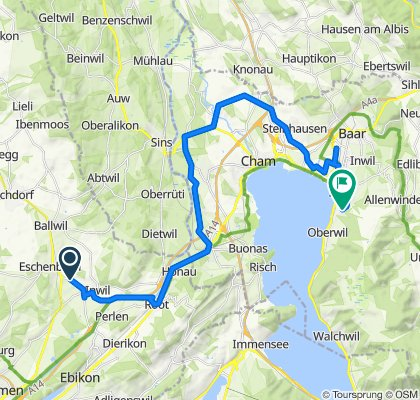 Moderate Route in Zug