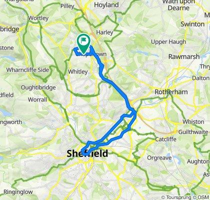 Restful route in Sheffield