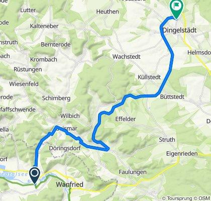 Kanonenbahn Radweg Unstrut Werra