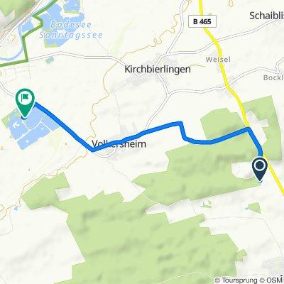Gerade Fahrt in Rottenacker
