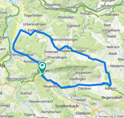 Ländliweg 10A, Baden to Ländliweg 10A, Baden