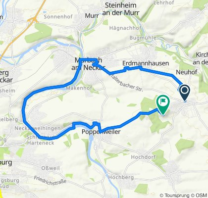 Entspannende Route in Ludwigsburg