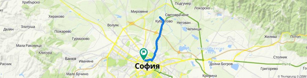 "ulitsa ""Kozloduy"" 96, Sofia to ulitsa ""Kozloduy"" 96, Sofia"