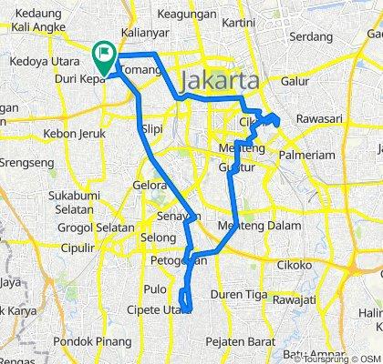Jalan Delima 1 No. 17, Grogol Petamburan to Jalan Tanjung Duren No. 66, Grogol Petamburan