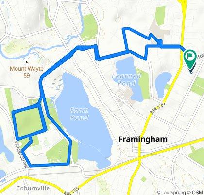 Restful route in Framingham