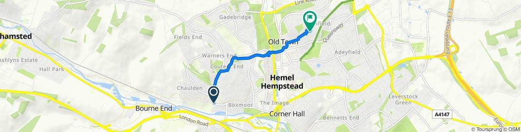 Chaulden Lane, Hemel Hempstead to 36 Cattsdell, Hemel Hempstead