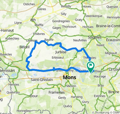 Chaussée du Roeulx 1305, Mons to Rue de Mons 260, Le Rœulx