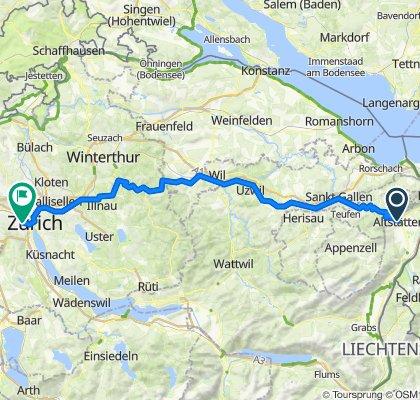 Altstätten - Zürich direkt