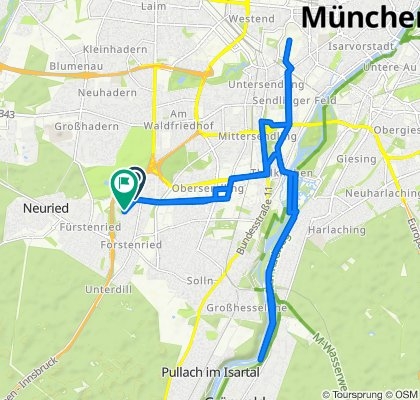 Moderate Route in München