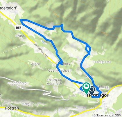 Hermagor Radnig Wasserfall Gitschtal Hermagor
