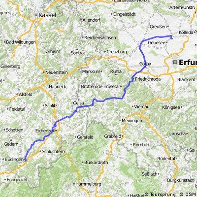 Tag 1 nach Straußfurt Bad Soden