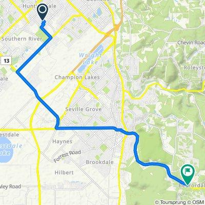 Restful route in Bedfordale