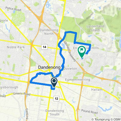 Easy ride in Endeavour Hills
