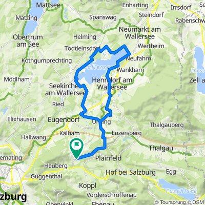 Gerade Fahrt in Schwaighofen