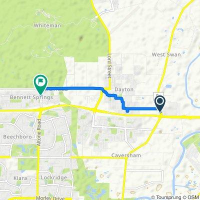 Relaxed route in Bennett Springs