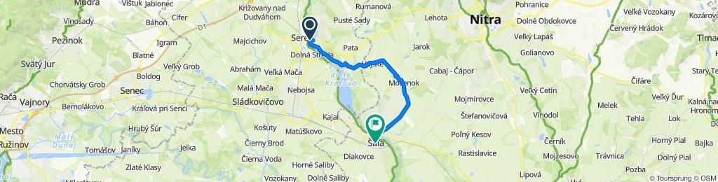 Sereď - Šoporňa - Hájske - Horná Kráľová - Močenok - Šaľa
