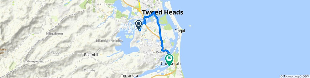 Moderate route in Chinderah