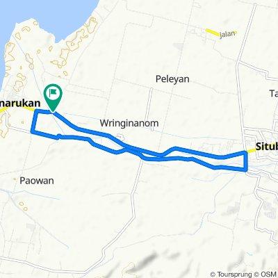 Jalan Raya Panarukan, Kecamatan Panarukan to Jalan Raya Panarukan, Kecamatan Panarukan